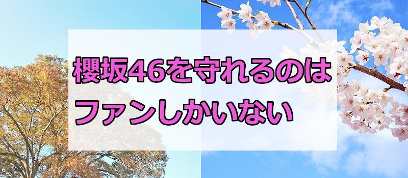 櫻坂46を守れるのはファンしかいない
