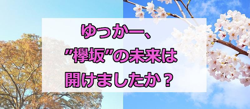 """ゆっかー、""""欅坂""""の未来は開けましたか?"""