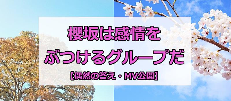 櫻坂は感情をぶつけるグループだ【偶然の答え・MV公開】