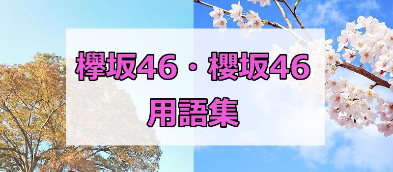 欅坂46・櫻坂46用語集
